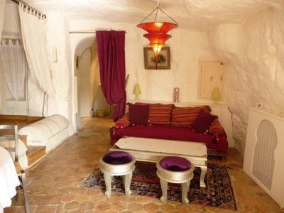 Alojamiento troglodita en el Valle del Loira