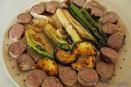 Butifarra con verduras