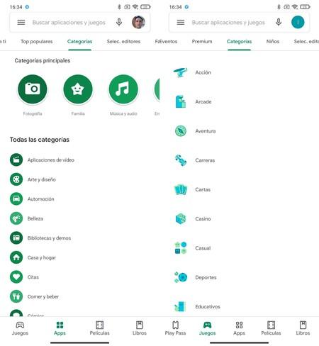 Google Play Store Nuevo Aspecto