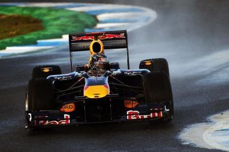 Sebastian Vettel domina bajo el sol y la lluvia de Jerez