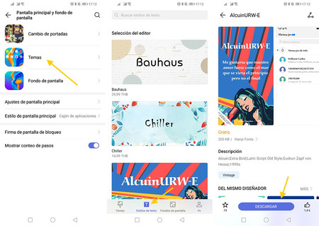 How to use the font of Google in a mobile Huawei u Honor