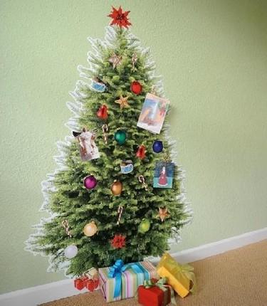 Decoración para Navidad 2010: árbol de vinilo para la pared
