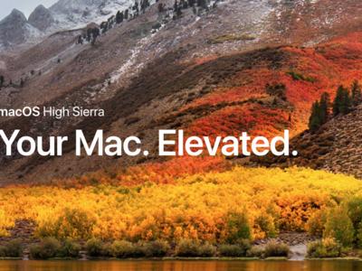 Estos son los computadores Mac compatibles con macOS High Sierra
