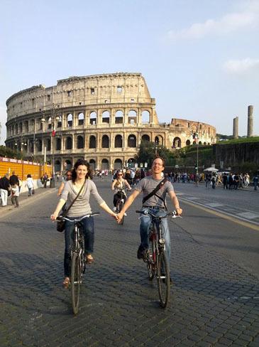 En bici por Roma