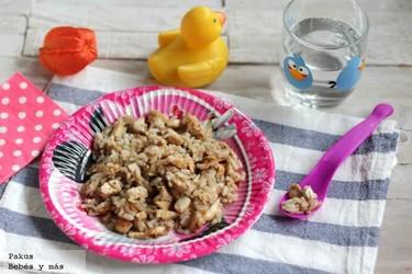 Arroz con pollo para empezar a comer solitos