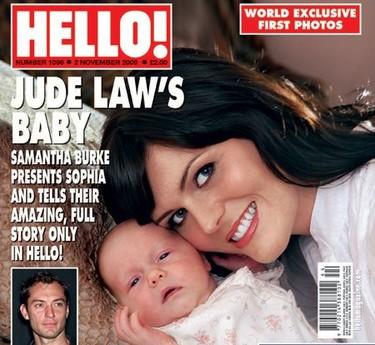 Jude Law vuelve a ser padre... y la conoce por la prensa