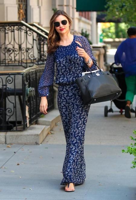 Largos y vaporosos, así son los vestidos favoritos de Miranda Kerr y nosotras se los copiamos