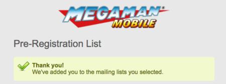 Capcom Mega-Man pre-registro