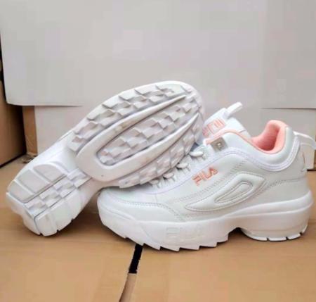 Fila Disruptor II Premium Mujer Zapatillas Blanco