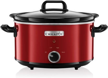 Ofertón de Amazon en la olla de cocción lenta Crock-Pot SCV400RD-050 de 3,5 litros de capacidad: cuesta sólo 29,90 euros con envío gratis