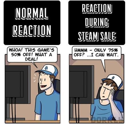 Imagen de la semana: las reacciones ante las rebajas veraniegas de Steam
