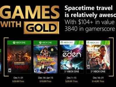 Warhammer: End Times Vermintide y Back to the Future: 30th Anniversary entre los Juegos con Gold de diciembre
