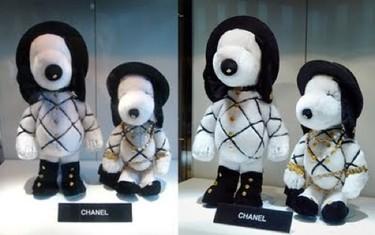 Snoopy vestido por las mejores firmas de la alta costura