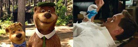 El oso Yogui y Los pitufos son unos atentados contra los recuerdos infantiles