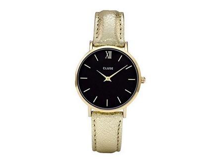 Reloj Cluse Dorado Y Negro
