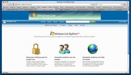 Windows Live SkyDrive, amenazando a XDrive y Adobe Share