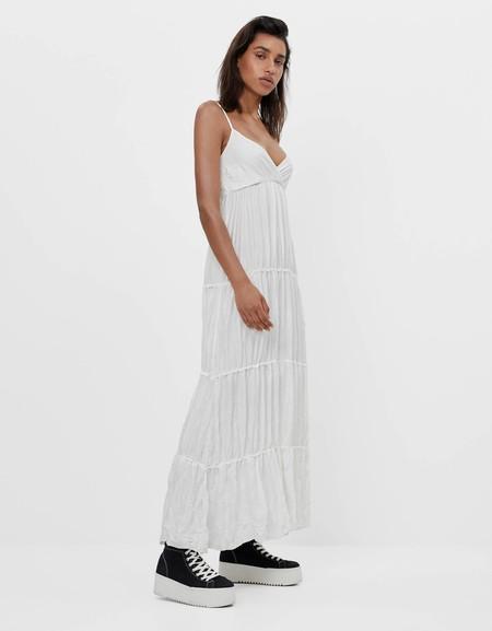 Sara Carbonero Vestido Blanco 3 Bershka
