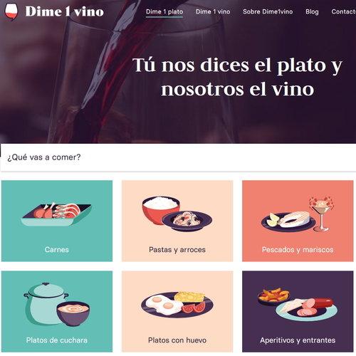 Dime1vino: así es la app y web que te ayuda a acertar siempre con los maridajes