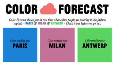 ¿No sabes qué ponerte? Descubre el color que es tendencia en tu ciudad con Color Forecast