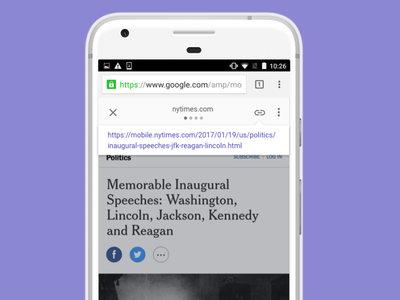 Google mejora las Páginas Móviles Aceleradas (AMP), ahora podras ver y compartir el enlace original