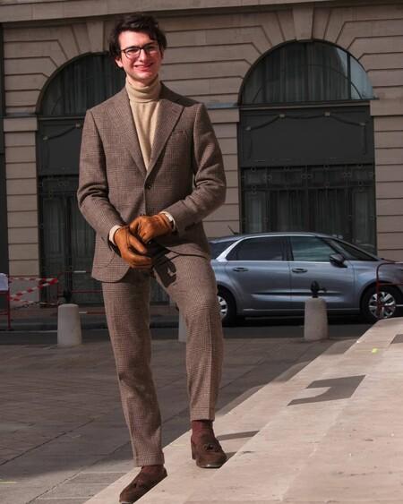 El Mejor Street Style De La Semana Brown Suit Trendencias Hombre 10