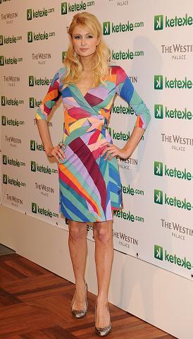 Paris Hilton, en Madrid