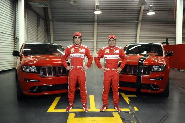 Alonso y Massa con sus nuevos Jeep Grand Cherokee SRT8