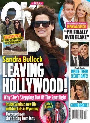 Sandra Bullock es feliz