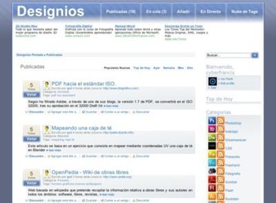 """Designios, el """"meneame"""" de los recursos para los diseñadores gráficos"""