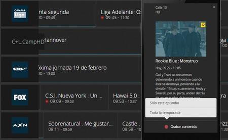 Movistar TV ya permite programar grabaciones desde tu smartphone