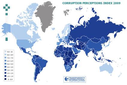 Indice de corrupción de Transparency Internacional 2009