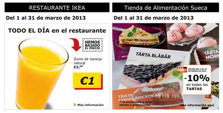 Ofertas de marzo en el restaurante y la tienda de alimentación de Ikea