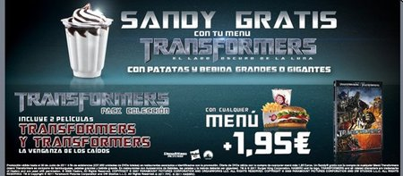 Celebra el estreno de 'Transformers' en Burger King