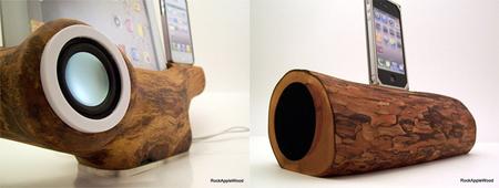 Conecta tu iPhone, iPad o iPod a un tronco de madera con RockAppleWood y hazlo sonar