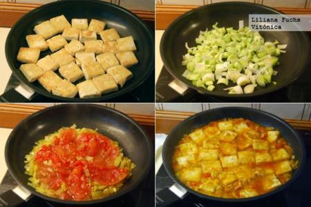 Tofu En Salsa De Tomate Y Puerro Receta Saludable