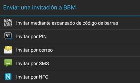 Invitar contacto BBM