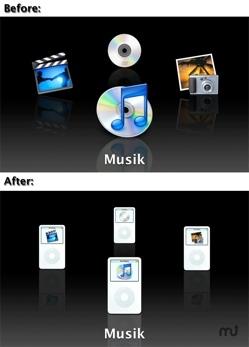 Front Row iPod Mod: Cambia los iconos de Front Row