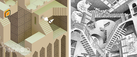 Monument Valley inspirado en Escher