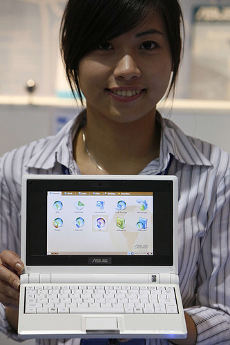 Asus Eee PC, así es su tamaño real