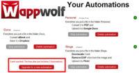 WappWolf limita las acciones que podemos automatizar con sus cuentas gratuitas