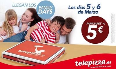 Y con marzo vuelven los 'Family Days' a Telepizza, ¡hoy y mañana!