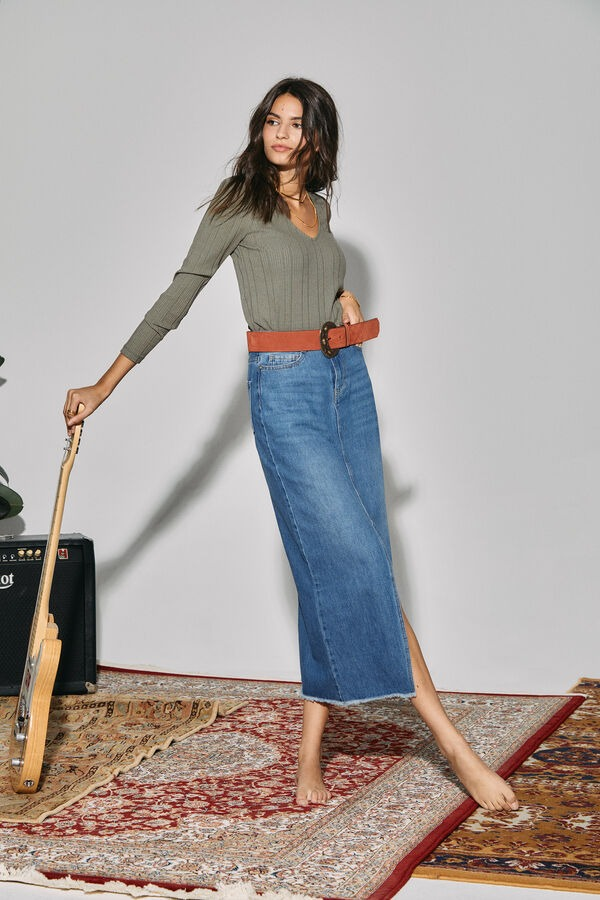 SLOWLOVE Falda larga long fit