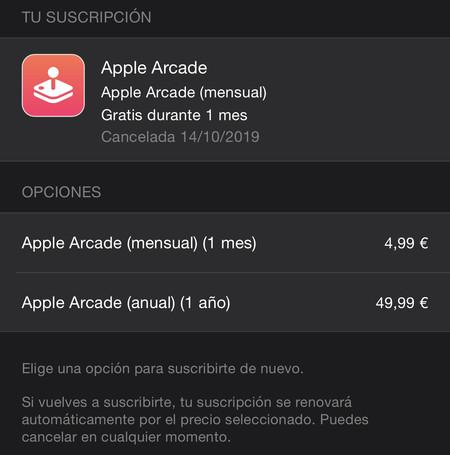 Apple Arcade 1 año suscripción