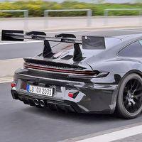 El próximo Porsche 911 GT3 RS ya está en Nürburgring, y podría ser absolutamente descomunal