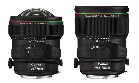 Canon TS-E 17mm f4L y TS-E 24mm f3.5L II, nuevos objetivos descentrables