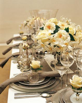 El banquete (II): los adornos de la mesa