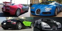 La variedad cromática del Bugatti Veyron