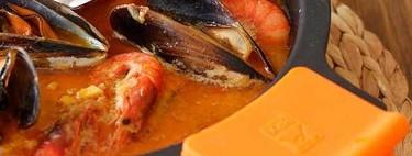 Guiso de pescado y marisco, receta de la tradicional cataplana portuguesa (pero preparada en cazuela)