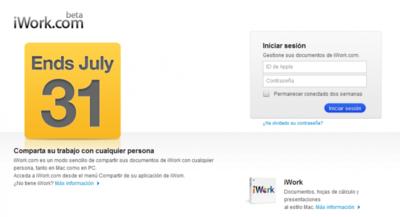 iWork.com cierra hoy mismo: guardad vuestros documentos antes de acabe el día