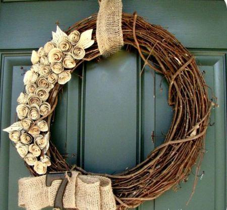 Las puertas de navidad m s originales for Puertas decoradas con flores de papel